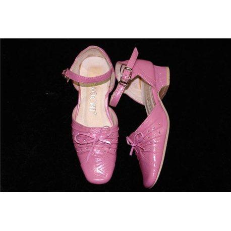 Обувь детская нарядная для девочек розовая р.26 0807