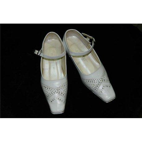 Обувь детская нарядная для девочек белая с камнями р.24 0413