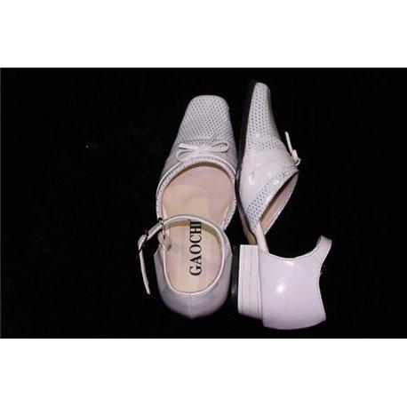 Обувь детская нарядная для девочек белая р.26 0436