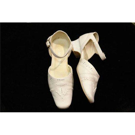 Обувь детская нарядная для девочек белая р.25 1910