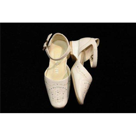 Обувь детская нарядная для девочек белая арт.379-18 р.24 1901