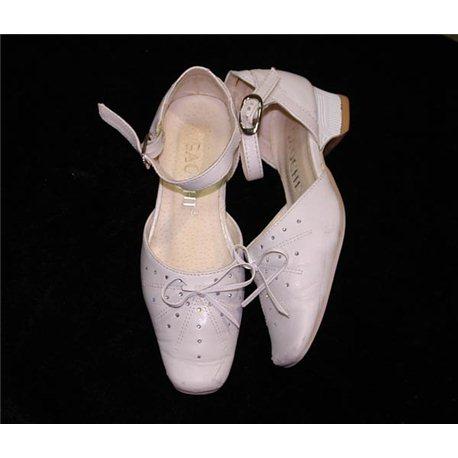 Обувь детская нарядная для девочек белая р.23 1719