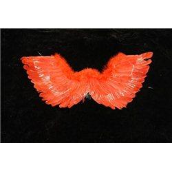 Крылья перьевые красные с блеском 4684