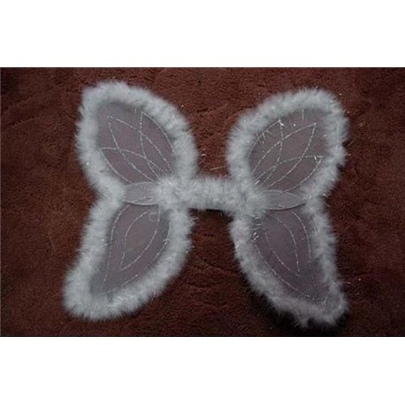 Крылья бабочки белые с пухом 1687