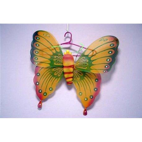 Крылья бабочки желто-зеленые с тельцем 1682