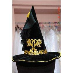 Карнавальная шляпа -колпак для Ведьмы с золотом 2462