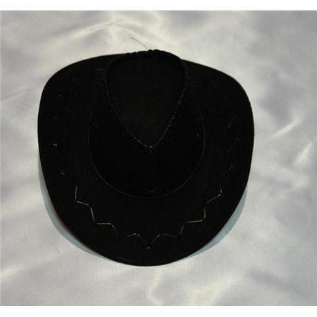 Карнавальная шляпа Ковбоя черная взрослая 4655