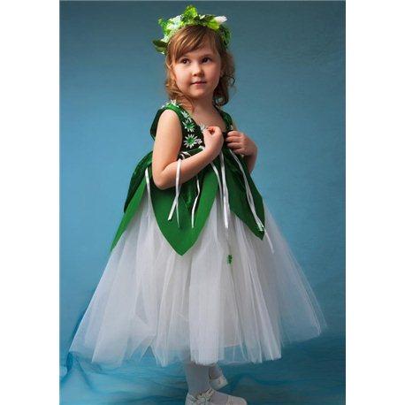 Детский карнавальный и маскарадный костюм Подснежник, Ландыш девочка 3-5 лет 0638, 0639, 0640, 0641