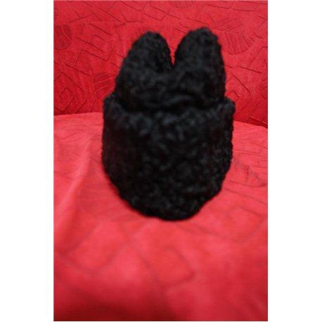 Национальная шапка каракулевая черная 0717