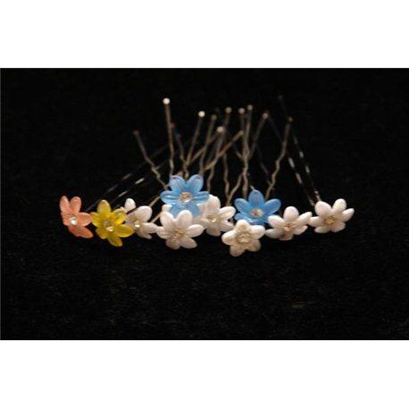 Шпильки для волос ромашки (белые, сиреневые, желтые, оранжевые, розовые) 3557