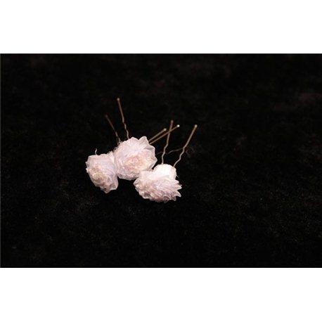 Шпильки для волос розы плисе 3554