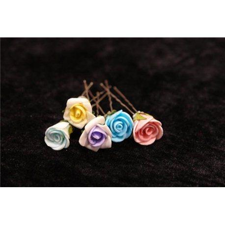 Шпильки для волос розы бутон 4025