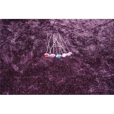 Шпильки для волос розочки с серебрянными камнями 4713