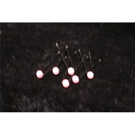 Шпильки для волос с бусинкой (розовые, белые) 3550