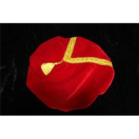Карнавальный берет красный 0167