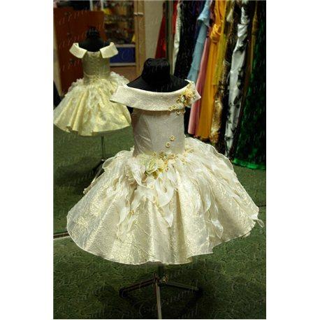Платье для девочки-Весна, Осень золотая парча 0438