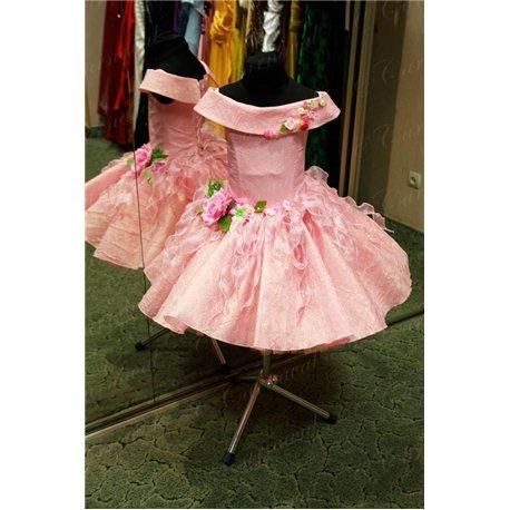 Платье для девочки Весна, Лето розовое 0437