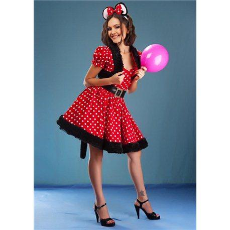 Взрослый карнавальный костюм Минни Маус 3592
