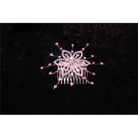 Гребешок серебрянный цветок с салютом 4702