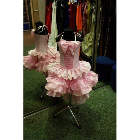 Детское платье Танго парча светло-розовое 4552