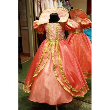 Детский карнавальный костюм Белоснежка персиковая 5 лет 0591