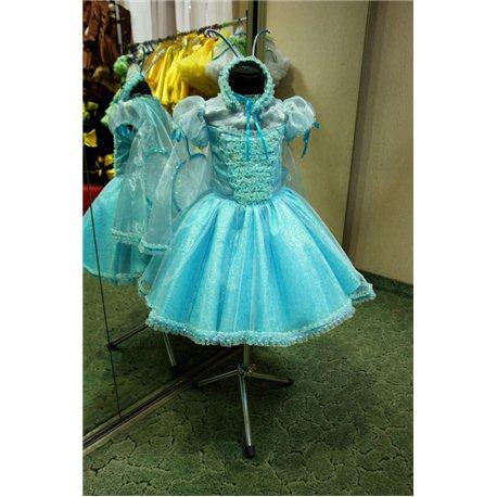 Детский карнавальный и маскарадный костюм Бабочка голубая на 4-5 лет 0309