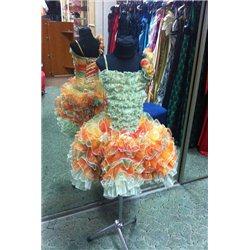 Детское нарядное платье Осень, танго рюшки 5 лет 0927