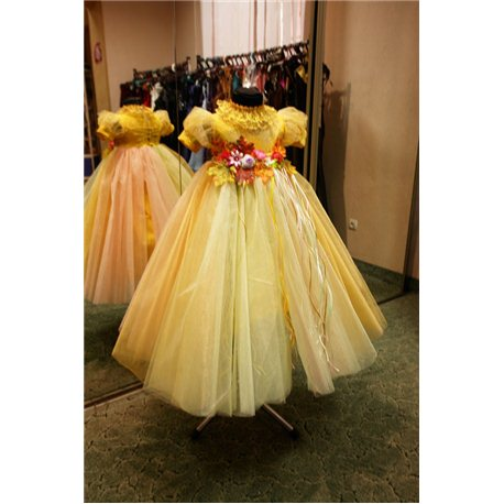 карнавальное платье для девочки Хризантема, Осень золотая с композицией 5-6 0609