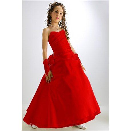 Красное платье для девочек Eliana 0585