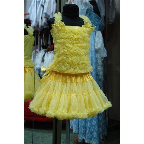 Pettiskirt (fustiţă vaporoasă şi bluză galbenă) 4777