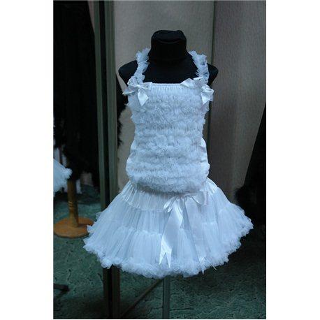 Американка petiskirt белая (юбка, кофта) 4782