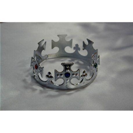 Корона золотая и серебряная складная 4690