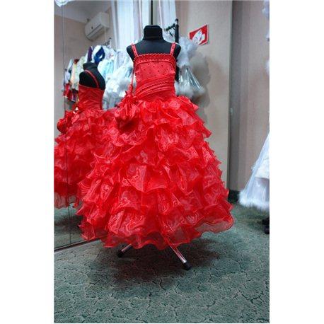 Rochiţă roşie pentru fetiţe 0719