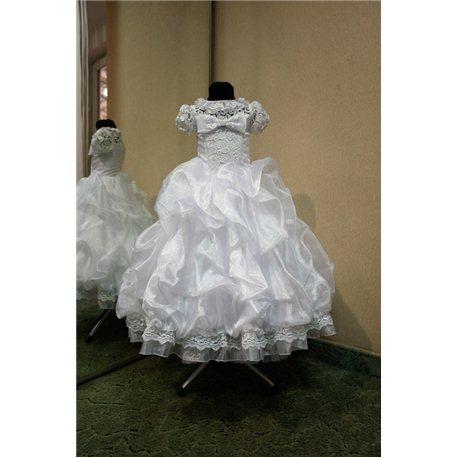 Детское нарядное платье Rosita сливки белое на 6-7лет 3301