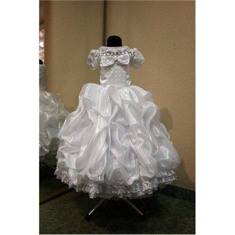 Детское нарядное платье Rosita сливки белое на 5лет 3294