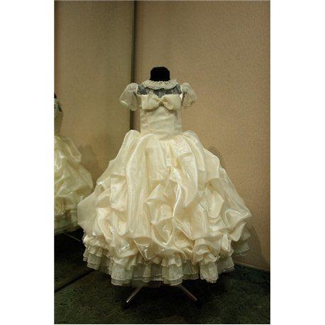Детское нарядное платье Rosita сливки бежевое на 5 лет 0268
