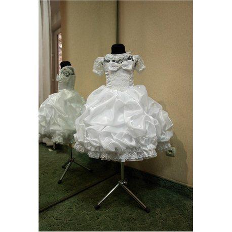 Детское нарядное платье Rosita сливки белое на 3 года 3296