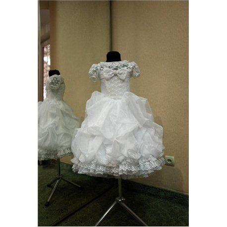 Детское нарядное платье Rosita сливки белое на 5-6 лет 3309