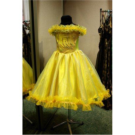 """Платье для девочки """"Aven"""" жёлтое 3-5 лет 0181"""