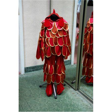Детский карнавальный и маскарадный костюм Петушок коричневый с красным 5 0852, 1510