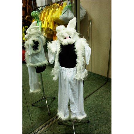 Детский карнавальный и маскарадный костюм Зайчик белый 0788, 0087, 0091