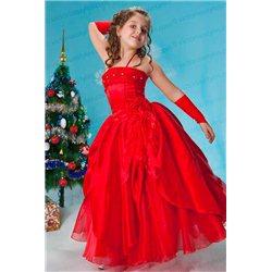 Изумительное красное платье 1165