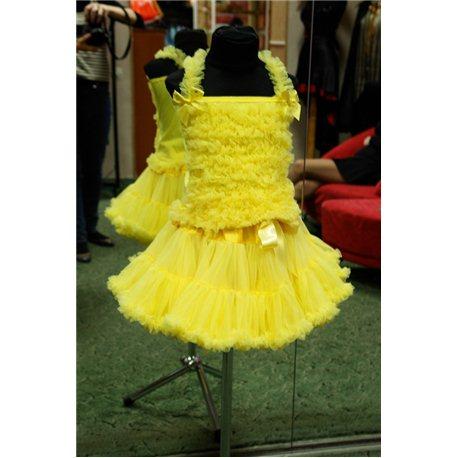 Pettiskirt (fustiţă vaporoasă şi bluză galbenă) 0397