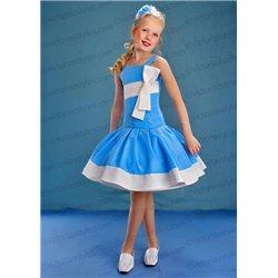Rochiță pentru fetițe albastră 4404
