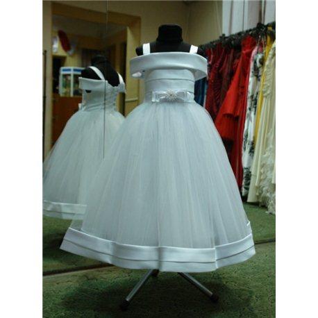 Нарядное белое платье Валентино на 5-6 лет р.32 1108