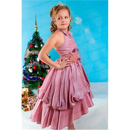 Комплект: праздничное платье для девочки и болеро 1286