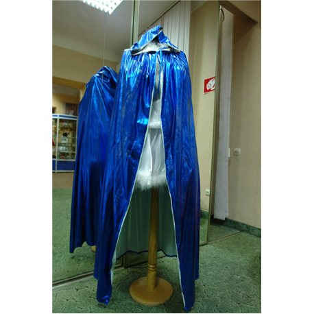Плащ синий-металлик 0563