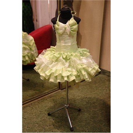 Нарядное платье для девочки Танго салатовое на 5-7 лет 0547