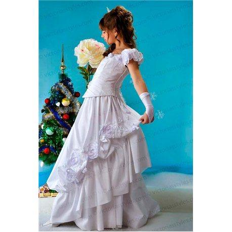 Белое бальное платье 1350