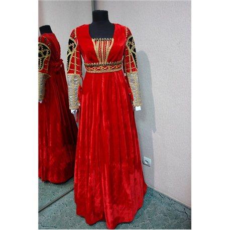 Взрослый карнавальный костюм Джульетта, Дама красное р.40-44 4125